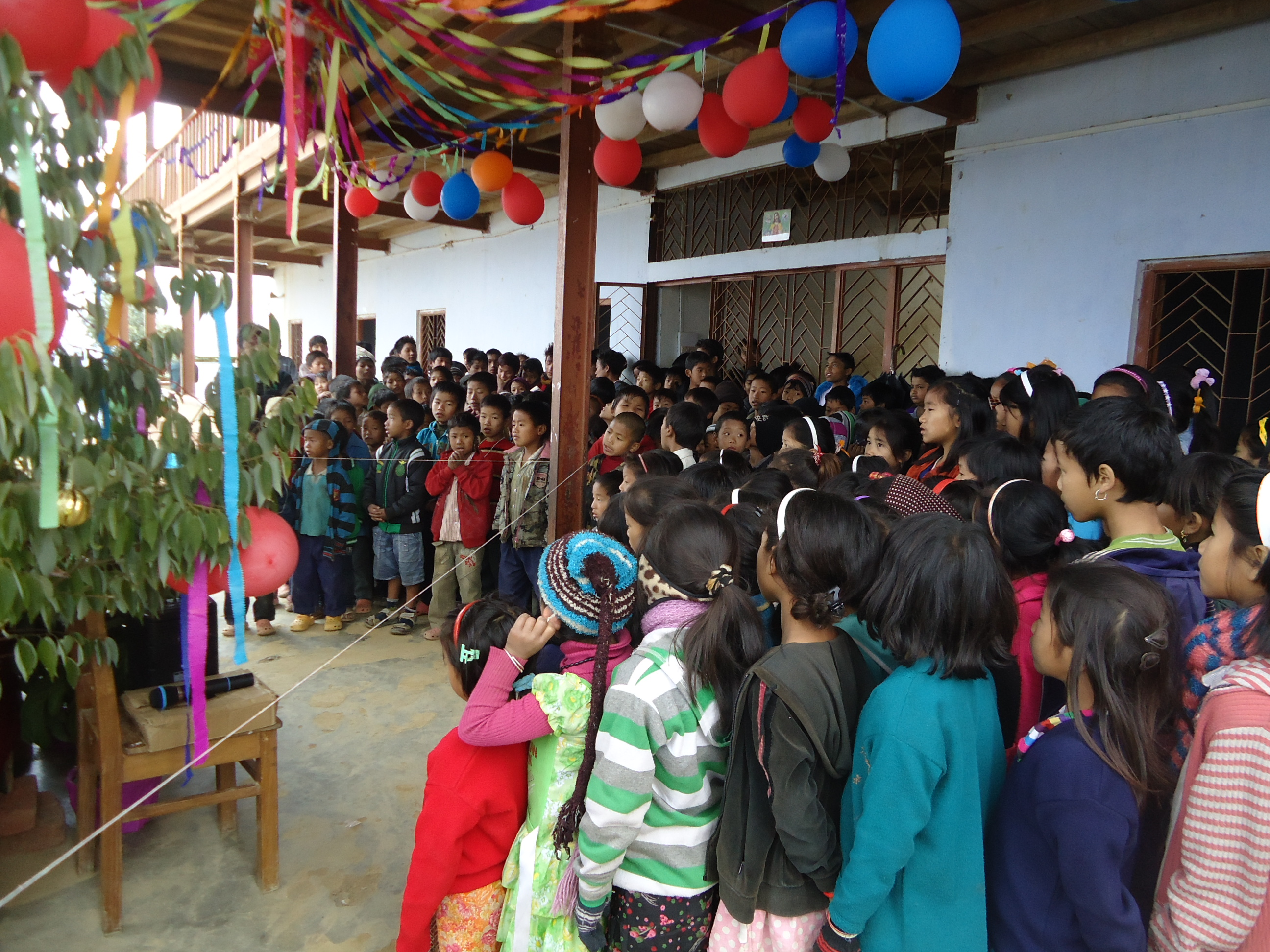 Christmas Celebrations at St. Xavier's School, Lazu, Khonsa