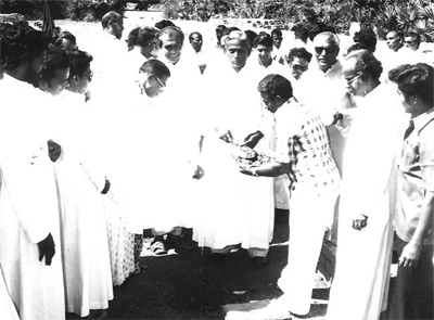 Blessing of the Foundation Stone for the first house of HGN