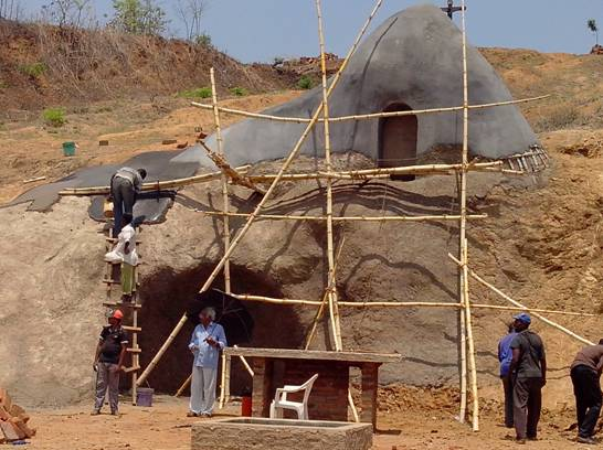 The 'grotto' being built at Kiberege mission in Tanzania, in the diocese of Ifkara